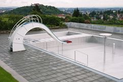 Leeg zwembad Stock Afbeelding