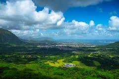 Leeküste von Oahu stockfotografie