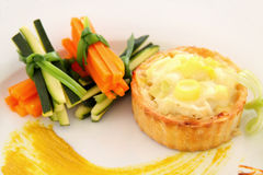 Leek And Cheese Tart Royalty Free Stock Photo
