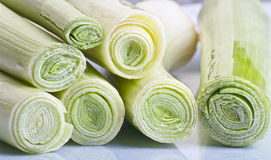 Leek close up Royalty Free Stock Images