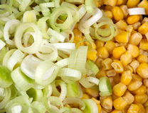 Leek and corn Stock Image