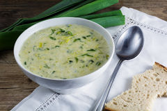 Leek cream soup Stock Photo