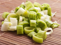 Leek cut Royalty Free Stock Photos