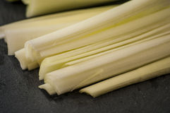 Leek cut black Stock Image