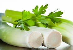 Leek and parsley Stock Photos