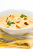 Leek, potato and celery soup Royalty Free Stock Image