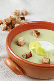 Leek and potato soup Stock Image