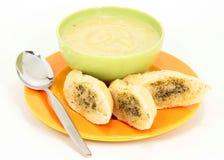 Leek potato soup Stock Image