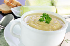 Leek and potato soup Stock Images