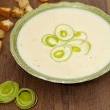 Leek and Potato soup Stock Photos