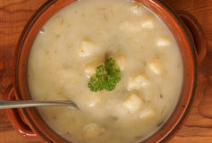Leek and Potato Soup Stock Photography