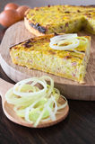 Leek quiche. Royalty Free Stock Photo