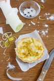 Leek quiche. With cream and cheese Royalty Free Stock Photos