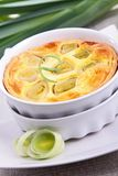 Leek quiche Stock Photography