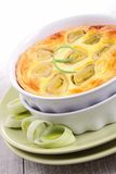 Leek quiche royalty free stock photography