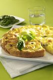 Leek quiche Stock Photos