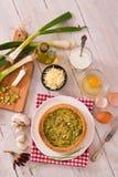 Leek quiche. stock images