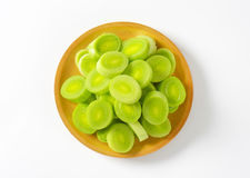 Leek slices Royalty Free Stock Images