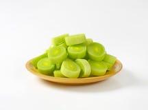 Leek slices Stock Photo