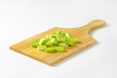 Leek slices Royalty Free Stock Image