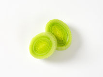 Leek slices Stock Images