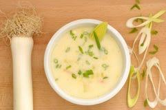 Leek Soup Royalty Free Stock Photo