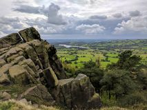 Tittesworth resevoir from the Roaches. Leek staffordshire peaks Stock Images