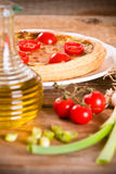 Leek and tomato quiche. Royalty Free Stock Photo