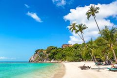 Leela beach on Phangan island,. Leela beach on Koh Phangan island, Thailand in a summer day royalty free stock images