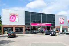Leen Bakker furniture store in Leiderdorp, Netherlands. Leen Bakker is a Dutch furniture store chain with 170 shops in the Netherlands and Belgium royalty free stock image