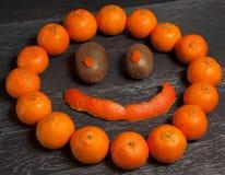 Leende av mandariner Arkivbild