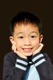 leende för 02 pojke Arkivfoton
