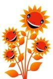 leende för 4 blomma Fotografering för Bildbyråer