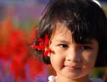 leende för flicka s Arkivfoto