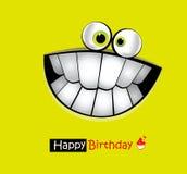 Leende för kort för lycklig födelsedag vektor illustrationer