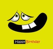 Leende för kort för lycklig födelsedag stort royaltyfri illustrationer