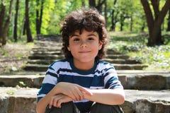 leende för pojke s Fotografering för Bildbyråer