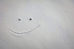 Leende i snö Royaltyfri Fotografi