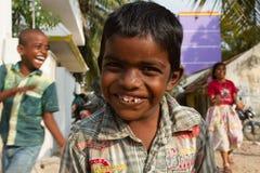 leende indiska barn Arkivbilder