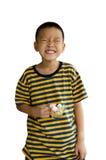 Leendebarnhand på jellys i koppisolat på vit bakgrund arkivfoton