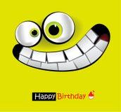 Leendekort för lycklig födelsedag stock illustrationer