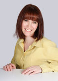 leendekvinna Royaltyfri Fotografi