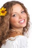 leendekvinna royaltyfri foto