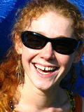 leendekvinnabarn fotografering för bildbyråer
