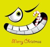 Leenden för glad jul stock illustrationer