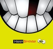 Leenden för kort för lycklig födelsedag vektor illustrationer