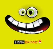 Leenden för lycklig födelsedag royaltyfri illustrationer