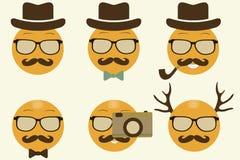 Leenden i hipsters stil Royaltyfri Fotografi