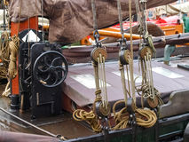 Leer, ancient boats moored in the marina Stock Photography