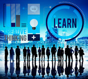 Leer de Ideeën Creatief Concept van de Onderwijskennis Stock Fotografie